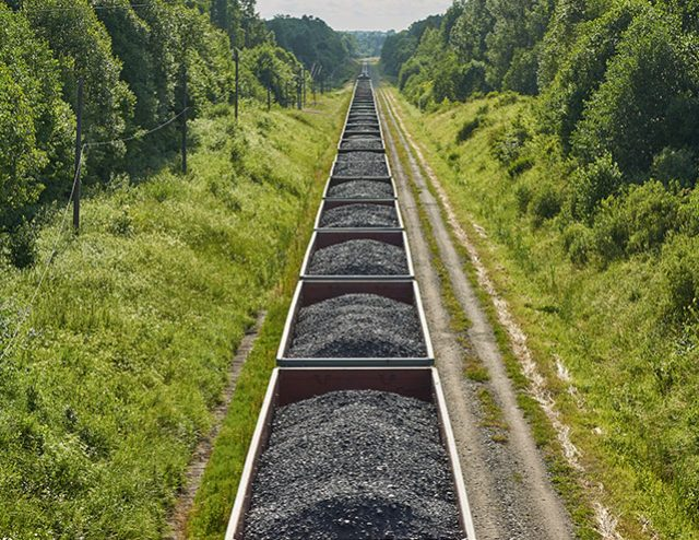 West virginia train full of coal